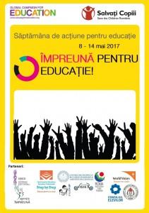Afiș Campania Globală pt.Educație 2017