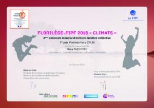 Diplômes Florilège 2018 primés POEMES HORS CFLM-1