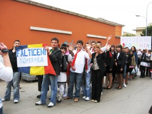 Parada scolilor participante Proiect european